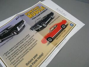 BROCHURE ONLY(NO CAR)-1/24-DANBURY MINT-PONTIAC MUSCLE CARS COLLECTION - #3
