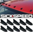 10 PC AIR VORTEX GENERATOR/DIFFUSER FIN SET/KIT FOR SPOILER ROOF WING TRUNK G