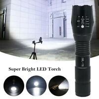8000LM XM-L T6 LED Tattico A Zoom Regolabile Ricaricabile Torcia Elettrica 18650