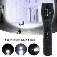 Lampe torche LED 3800LM XML-T6 ultra puissante Lampe de poche tactique zoomable