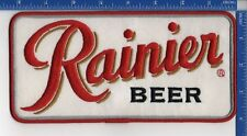"Rainier Beer patch 8 1/4"" X 4 1/4"" Sew on patch NOS"
