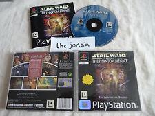 Star Wars The Phantom Menace PS1 (COMPLETE) Sony Playstation black label rare