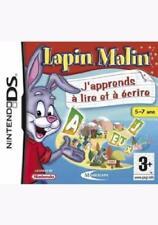 Jeu DS LAPIN MALIN - J'APPRENDS A LIRE ET A ECRIRE