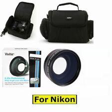WIDE ANGLE LENS +MACRO LENS + CASE BAG FOR NIKON D5000 D5100 D5200 D5300 D5500
