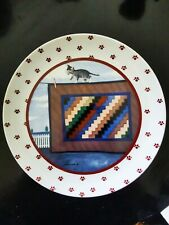 Vintage 1988 Vandor Lowell Herrero Plate Cat on Quilt on Clothesline 7.75""
