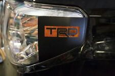 Vinyl Decal Graphics TRD Head Light Wrap Kit for Toyota Tundra 14-17 Matte Black