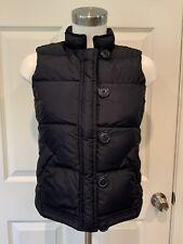 J. Crew Navy Blue Down Puffer Vest, Size XS
