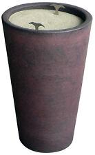 Piazza Effepi - Jar ashtray resin sand Wenge' for external