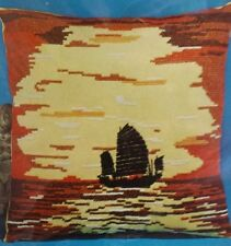 "China Sky Vintage Leewards Cross Stitch Pillow Kit 14"" x 14"""
