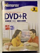 Memorex 4.7GB DVD+R Media (3-Pack)
