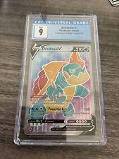 2020 Pokemon Champion's Path Drednaw V Full Art 069/073 CGC 9 Mint