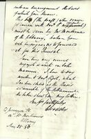 # 1836  LONDON TO NOTTINGHAM LETTER EX ALBANY - A TAVERN & COFFEE HOUSE ?