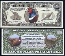 Lot of 25 Bills- Rooster Pheasant Million Dollar Novelty Bill