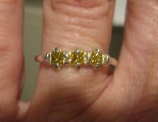 .38ctw SI2 SPARKLING PRINCESS CUT YELLOW DIAMOND RING! A LOT OF SPARKLES!