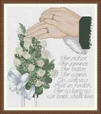 Counted Cross Stitch Kit - Wedding / Marriage