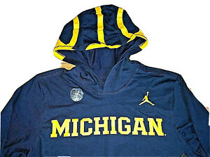 Michigan Wolverines Jordan Mens College Football Helmet Hoodie Sizes S or M