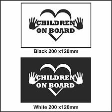 Children On Board Car Sign Decal Sticker Children On Board car window sticker