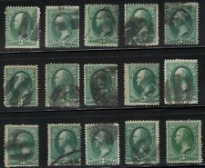 US Scott # 3c Green Banknote Collection / Lot of Fancy Cancels Some Nice Strikes