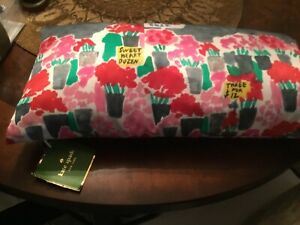 NWT Kate Spade Flower Market Silk Throw Pillow Feather And Down Insert Free Ship