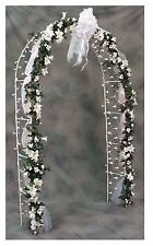 Arch Reception Wedding 200 Net Lights Decor Arbor Prom Party Garden Patio WHITE