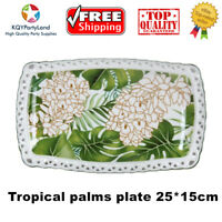 Tropical Palms Sandwich Serving Plate Fine Bone China Ceramic Home Gift Lady