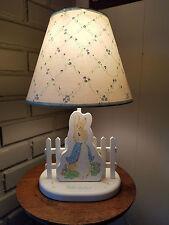 Vtg 1994 Eden Toys Beatrix Potter Peter Rabbit Wooden Nite Light Table Lamp