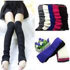 Black Crochet Knit Leg Warmers Long over Knee High Hosiery Stocking Boot Socks