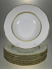 Syracuse China Cornwall Rimmed Soup Bowls Set of 8