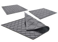 Black DOUBLE SIDED Macaron Macaroon Silicone Baking Mat Mould Mold MAKES 2 SIZES