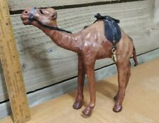 More details for vintage & retro - leather camel figure - 7 inch tall - kitsch unusual model
