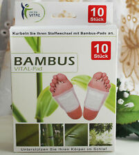 10x Bambus Pads Pflaster Vital-Pads Fußpflaster Fußpads Entgiftung Stoffwechsel