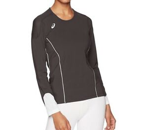 ASICS Youth Jr. Domain II Long Sleeve Volleyball Jersey BT3081 Grey/White Medium