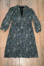 NEW Stunning MANGO 100% silk paisley midi dress SIZE 8 10 pretty lined boho chic