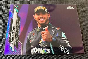 Topps Chrome F1 Lewis Hamilton Purple Parallel Refractor Card 176/399 #174