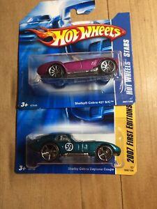 Hot Wheels Shelby Cobra 2 Pack. Daytona Coupe, 427 S/C