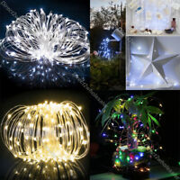 50 - 200 Led Solar Power Fairy Light String Lamp Party Xmas Deco Garden Outdoor