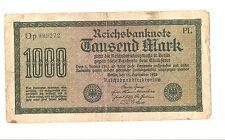 Banknote Deutsches Reich 1000 Mark 1922 Ro. 75m