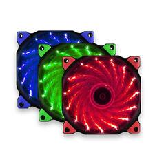 1 X LED Ultra Silent Computer CPU Fans PC Heatsink Case Fan 15 Lights 12V 120mm