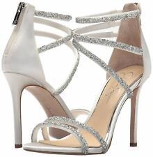 Jessica Simpson Jamalee Ankle Strap Zip up Sandals 730 White 8 US / 38 EU