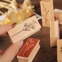 Jungle Plants Scrapbooking Decal DIY Album Tools Stamps Seal Set Wooden Stamps