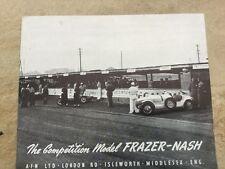 Frazer Nash COMPETITION Modèle ORIG 1950 S euro Marketing brochure-Bristol BMW interest