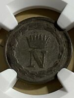 1813-M Italy Kingdom of Napoleon 10 Centesimi Graded VF25 by NGC!!