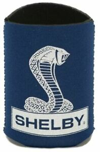 Koozie  - Shelby Snake Logo Navy Magnetic * Holds Your Beer! * Ships FREE to USA
