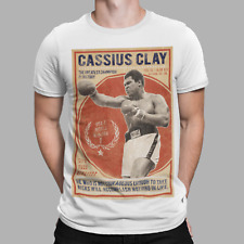 Cassius Clay Muhammad Ali T-Shirt Greatest Champion Boxing 70s 80s  Retro Gift
