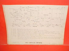 1957 CHRYSLER IMPERIAL CROWN CONVERTIBLE LEBARON SEDAN FRAME DIMENSION CHART 57
