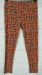 LuLaRoe Women's Leggings Orange, Red & Multi Color Size TC New