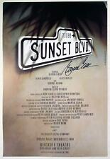 SUNSET BOULEVARD Glenn Close Signed Original Broadway Poster