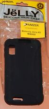 Amzer Jelly Silicone Skin Case for Motorola Atrix 4G MB860, Black, Brand New