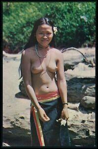 aa Asia Malaysia nude woman native ethnic beauty original c1950-1970s postcard