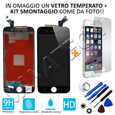 VETRINO LCD DISPLAY TOUCH SCREEN RETINA COMPLETO PER APPLE IPHONE 6S NERO NUOVO